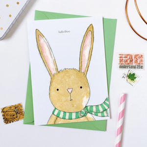 CA6-G-07 / Hello There Baby Rabbit Card