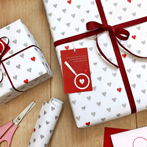 Mini Love Messages Wrapping Paper
