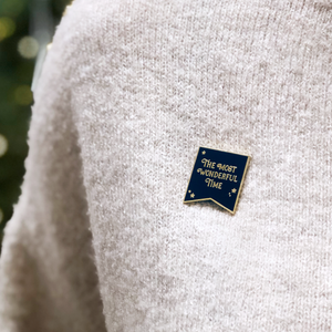 EP-C-04 / The Most Wonderful Time Navy Enamel Pin Badge
