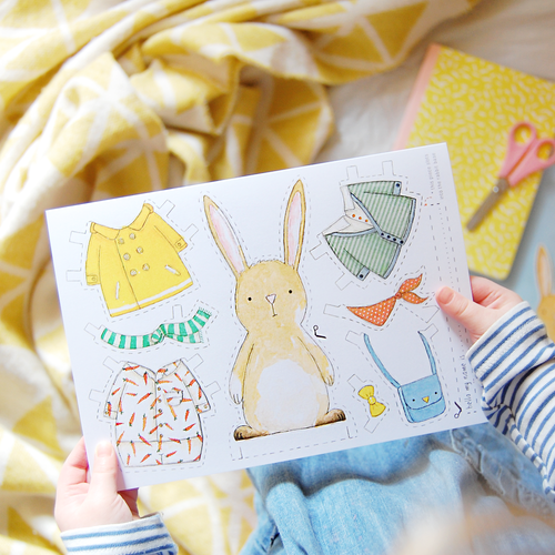 CA5-E-01 / Dress Up A Rabbit Card