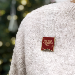 EP-C-05 / The Most Wonderful Time Red Enamel Pin Badge