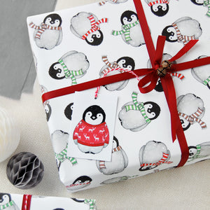 WP-FL-01 / Baby Penguin Wrapping Paper