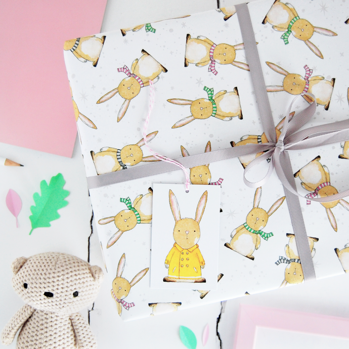 WP-FL-20 / Baby Rabbit Wrapping Paper