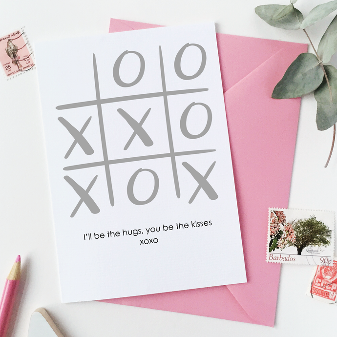 CA6-VD-10 / Xoxo Noughts And Crosses Valentine's Day Card