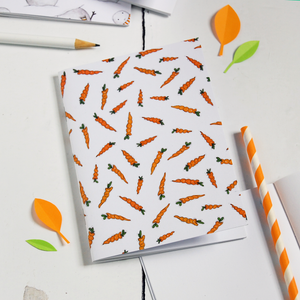 NB-A6-02 / Carrot Pattern Notebook