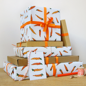 WP-FL-02 / Carrot Wrapping Paper