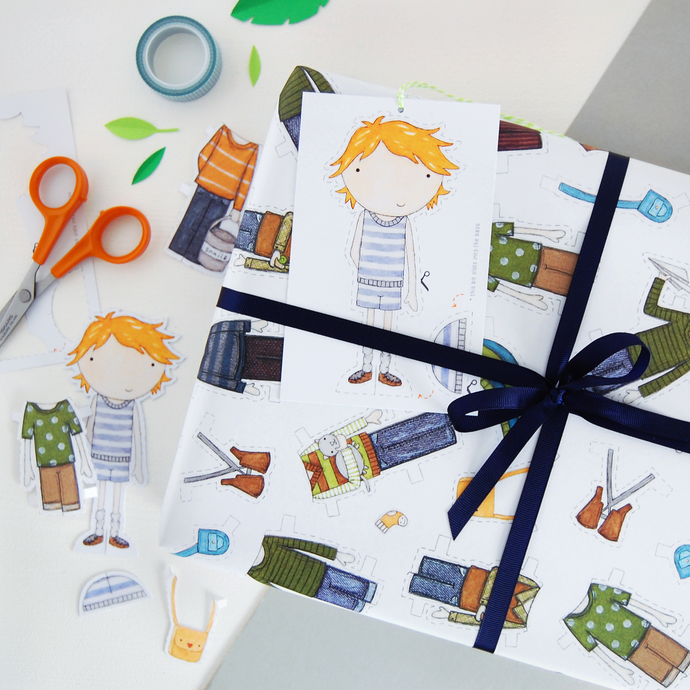 WP-FL-19 / Colin Paper Doll Wrapping Paper