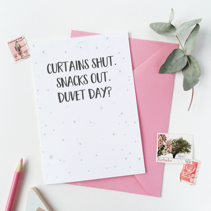 CA6-C-15 / Duvet Day Card