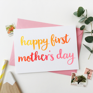 CA6-MD-07 / First Mother's Day Card
