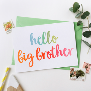 Big Brother Sibling Card