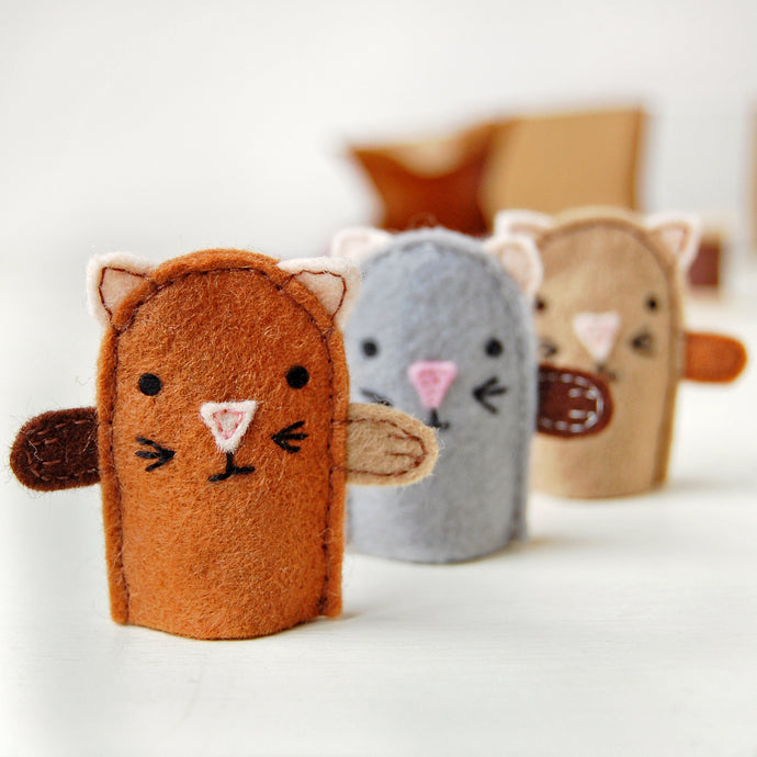 CK-MK-02 / Make Your Own Kitten Finger Puppets Craft Kit