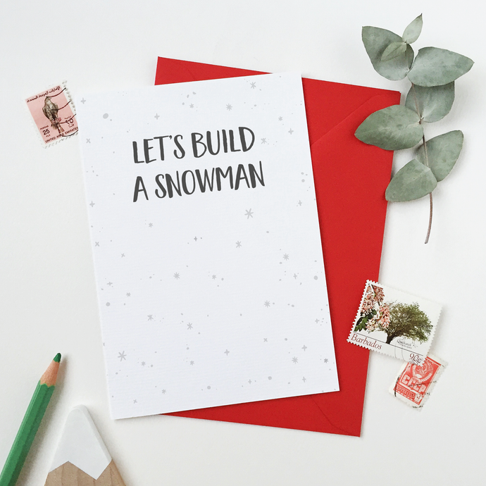 CA6-C-13 / Let's Build A Snowman Card