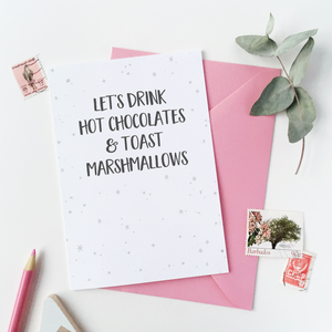 CA6-C-11 / Hot Chocolates And Marshmallows Card