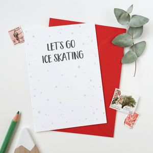CA6-C-12 / Let's Go Ice Skating Card
