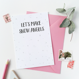 CA6-C-14 / Let's Make Snow Angels Card