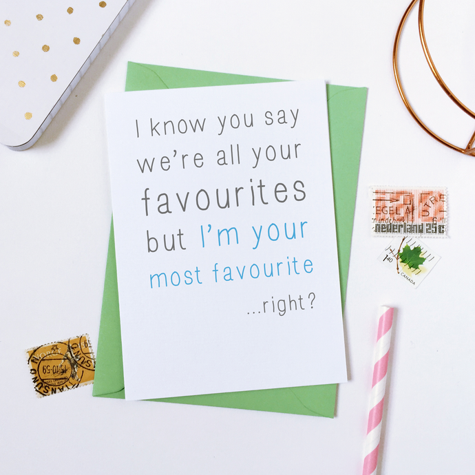 CA6-FD-01 / Most Favourite Father's Day Card