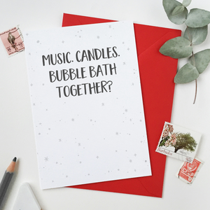 CA6-VD-02 / Bubble Bath Together Card