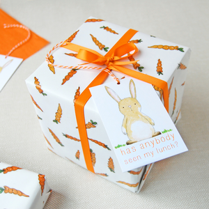 WP-FL-03 / Carrots And Rabbits Wrapping Paper