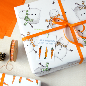 WP-FL-06 / Christmas Snowman Wrapping Paper