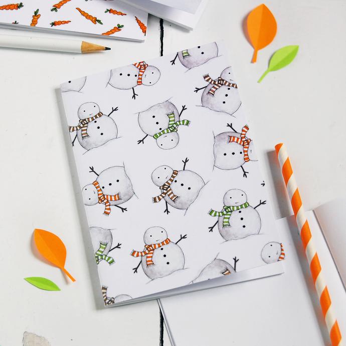 NB-A6-03 / Snowman Pattern Notebook