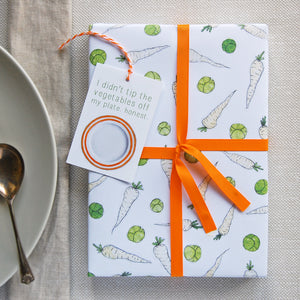WP-FL-14 / Sprouts And Parsnips Wrapping Paper