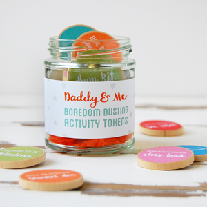 AJ-F-01 / Daddy And Me Activity Tokens Jar