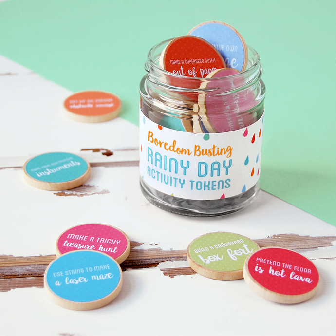 AJ-F-07 / Children's Rainy Day Activity Tokens Jar