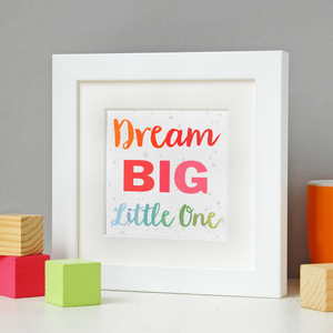 P6-F-02 / Dream Big Rainbow Framed Print