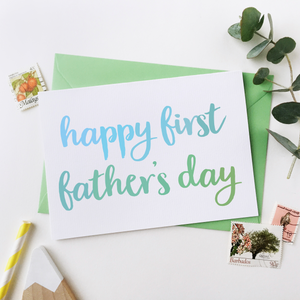 CA6-FD-03 / First Father's Day Card