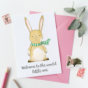 CA6-NB-08 / New Baby Rabbit Card