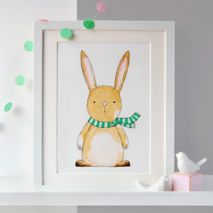 PA4-UN-08 / New Baby Rabbit Illustration Print