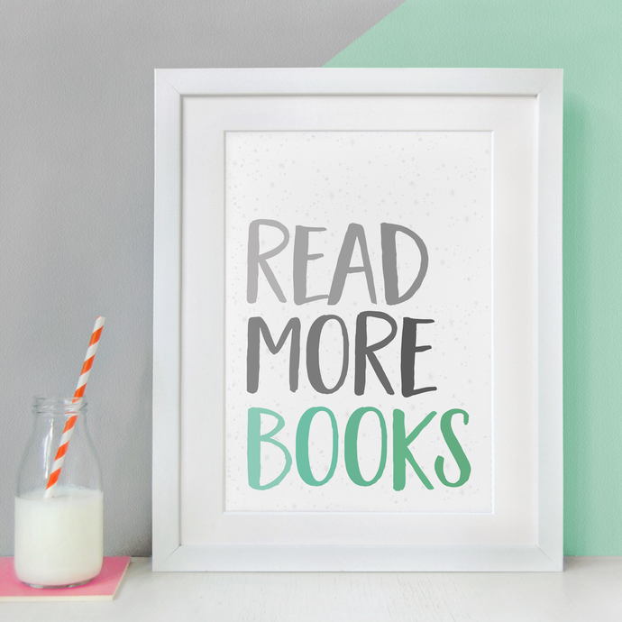 Read More Books Print / A4 Unframed