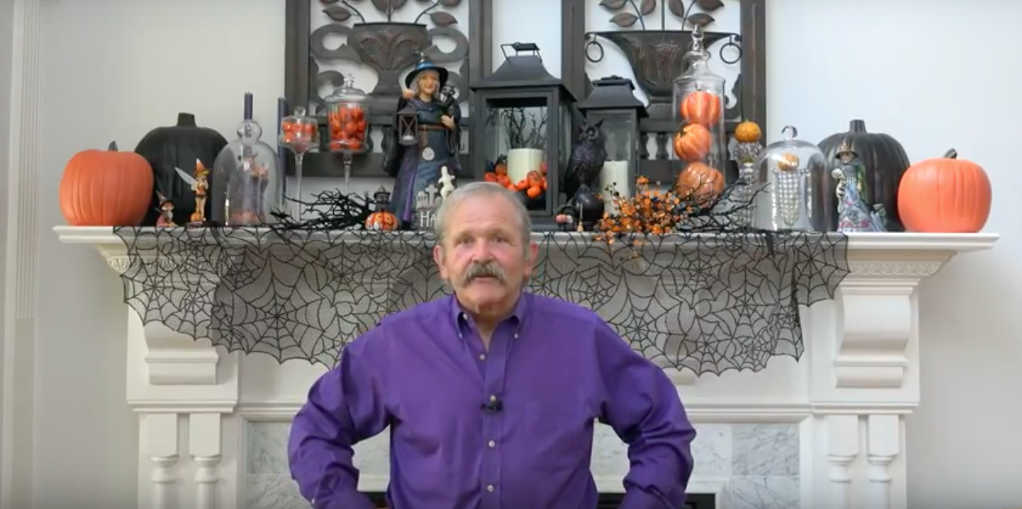 Jim Shore's Halloween Mantel