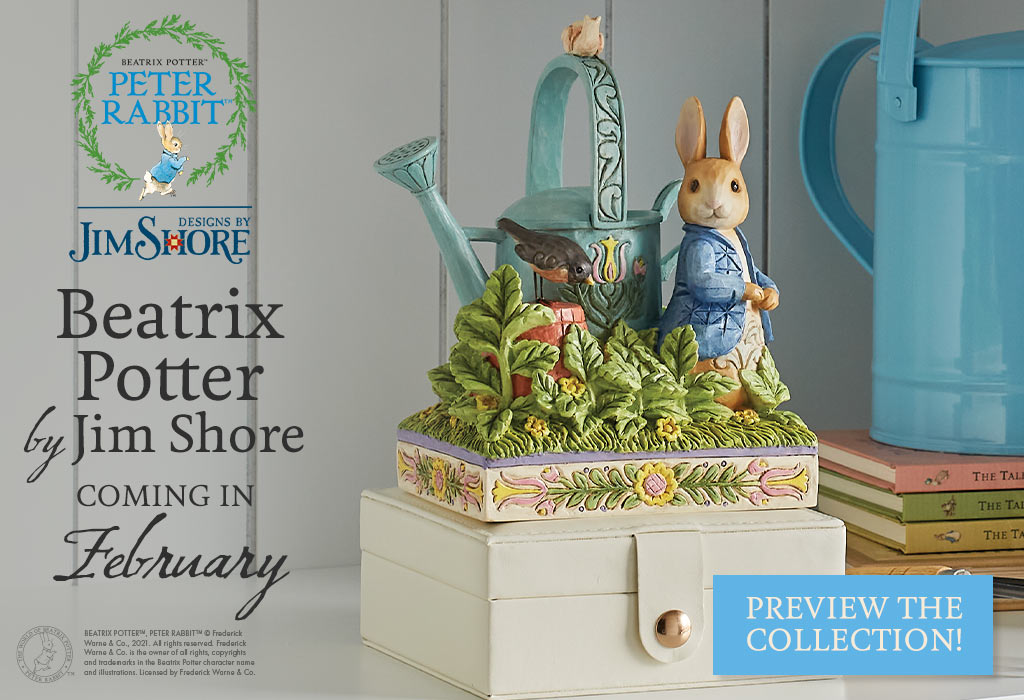 Beatrix Potter by Jim Shore coming in February