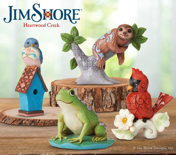 Animal minis from Jim Shore Heartwood Creek collection.
