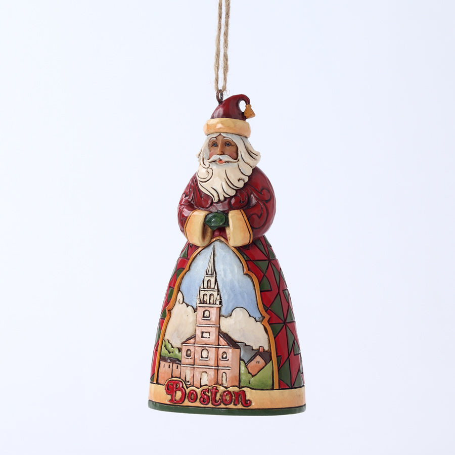Boston Santa Ornament