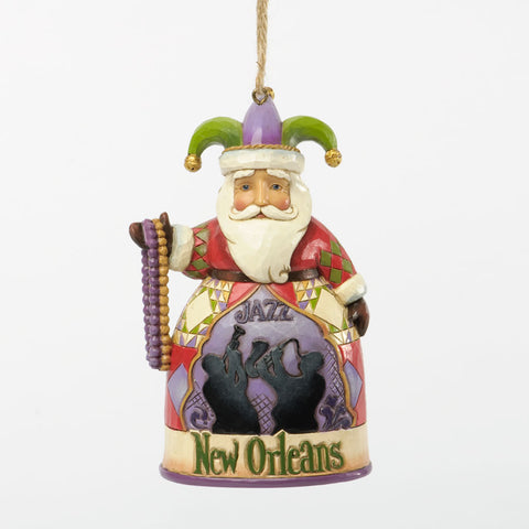 New Orleans Santa Ornament