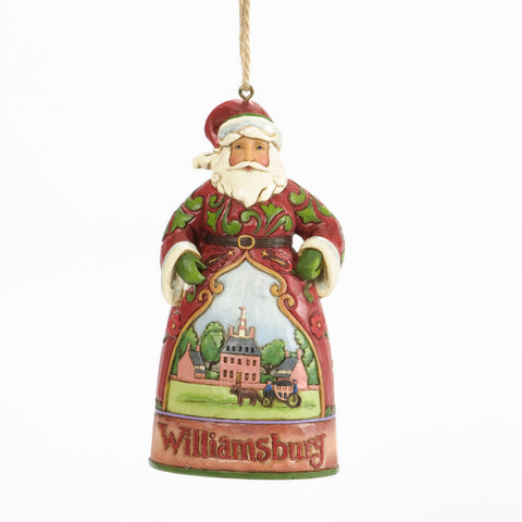 Williamsburg Santa Ornament