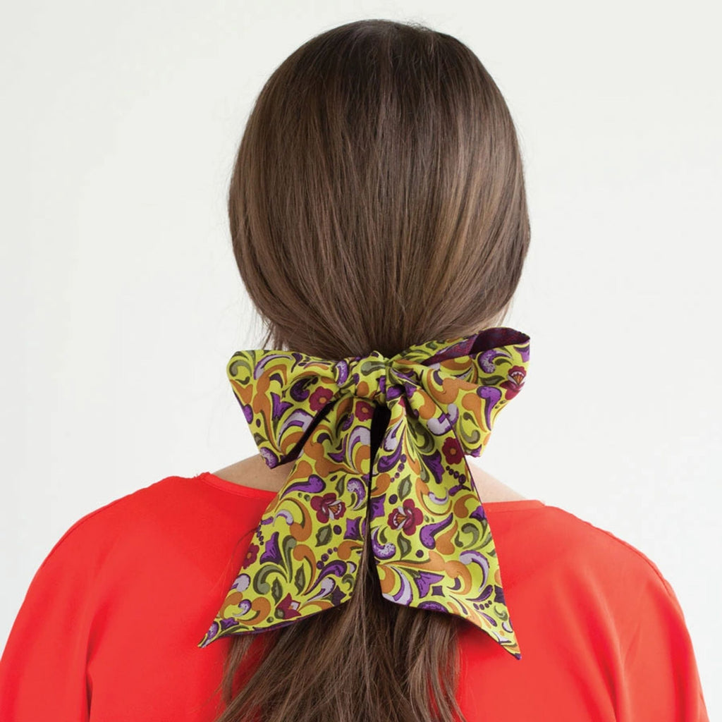 Gracie TwoSided Ponytail Scarf