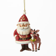 Santa and Rudolph 50th Ann Orn