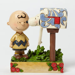 Charlie Brown Snoopy Mailbox Jim Shore