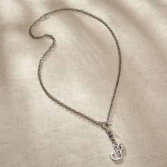 JS Monogram Letter O Necklace
