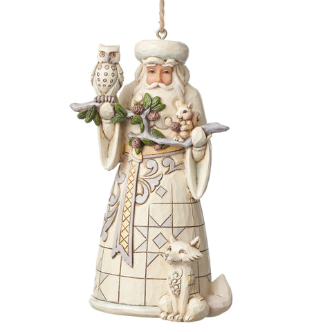 Woodland Santa Ornament