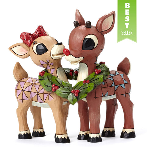 Rudolph and Clarice w/Wreath