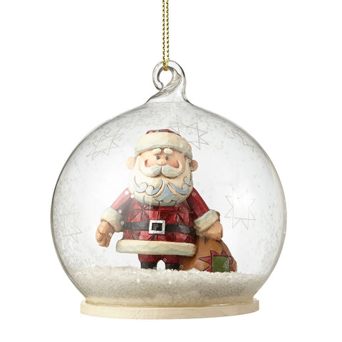 Santa Dome Ornament