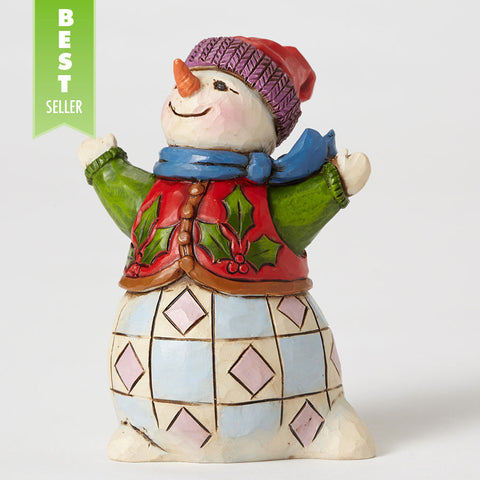 Mini Snowman with Holly Vest
