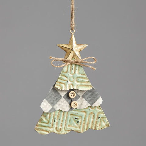Christmas Tree Tin Ornament