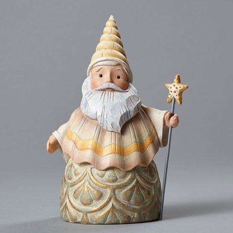 Seashell Santa w/Star Staff