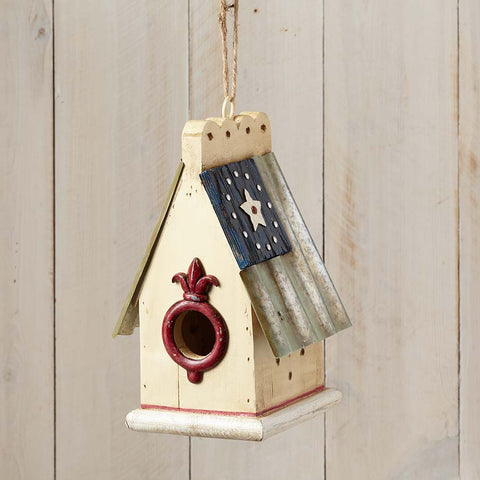 Patriotic Flag Bird House