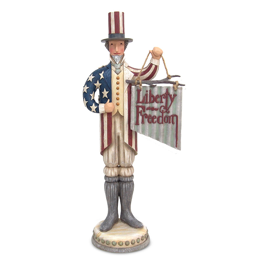 Uncle Sam with Liberty Sign